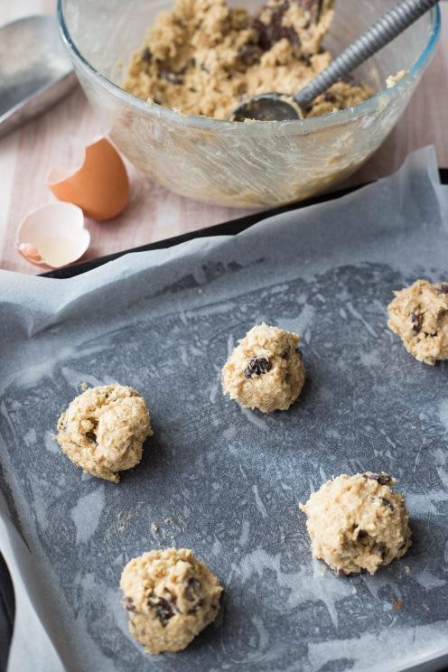 Oatmeal and raisin cookies 5
