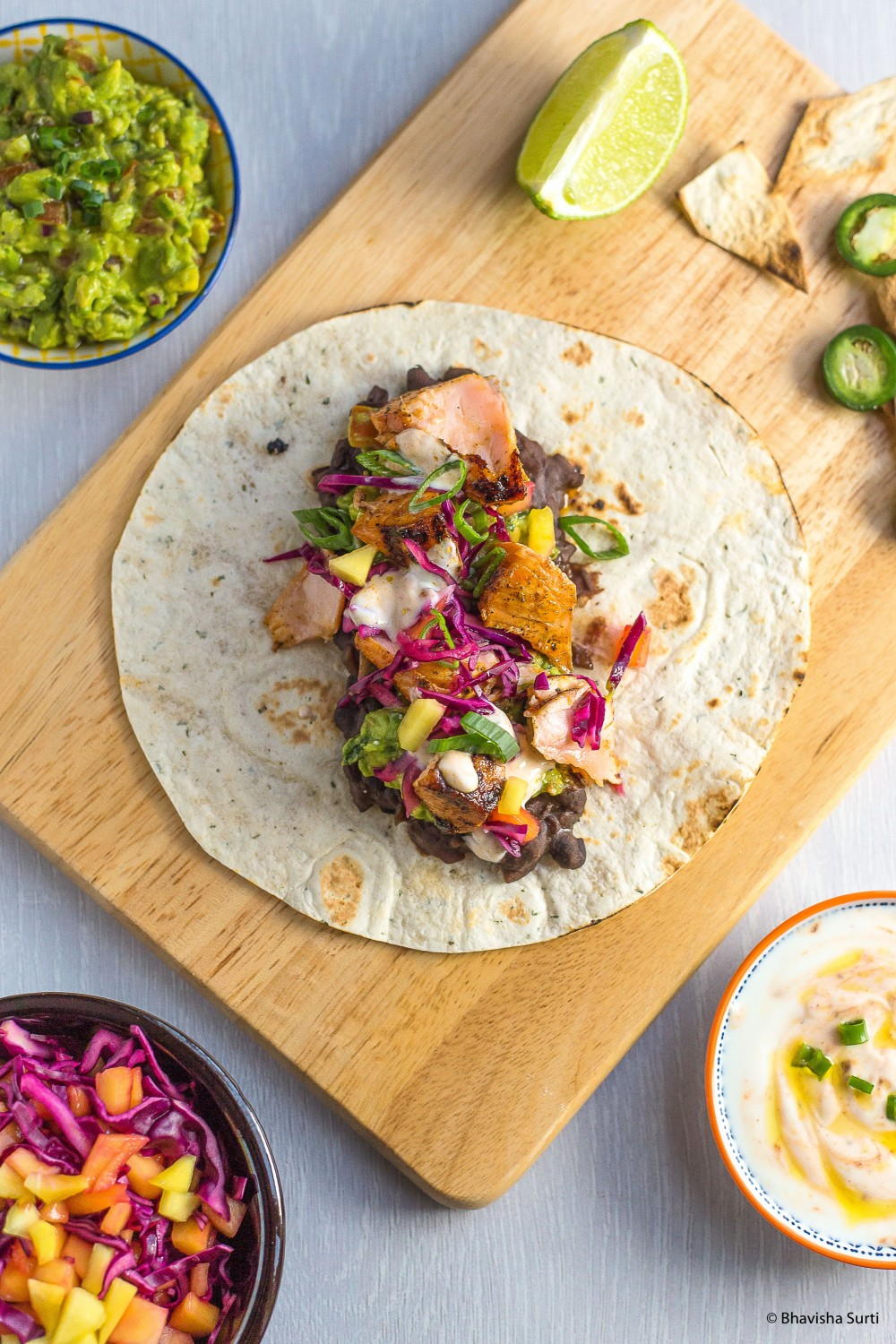 Grilled Salmon Tacos w